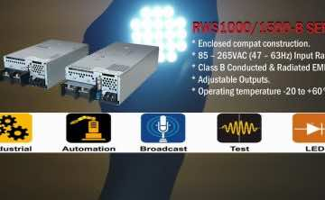 RWS1000B and RWS1500B Industrial AC-DC power supplies