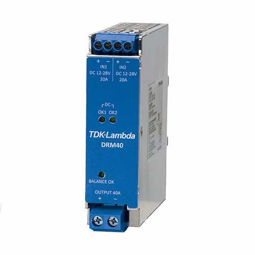 DRM40 DIN Rail Mount Redundancy Module 20A & 40A AC DC Power Supplies Battery Chargers